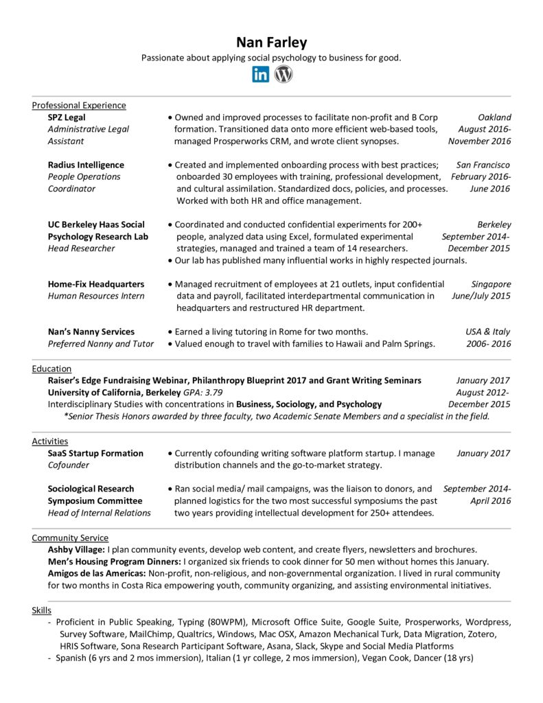 resume letter for work letter of recommendation sle